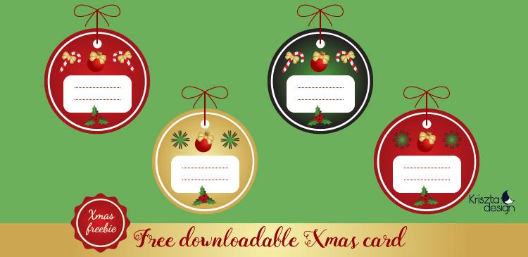 Xmas freebie: Egyedi letölthető karácsonyi ajándékkísérők
