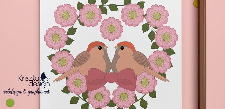 Letölthető színezőlapok: Madárkapár babarózsákkal
