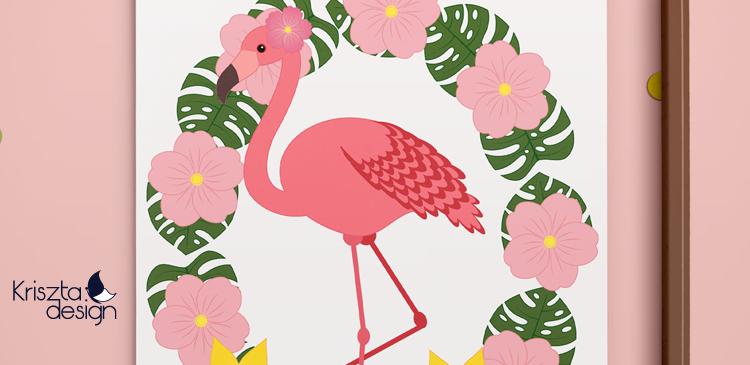 Colors of summer – flamingós színezőlap